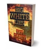 big white lies 3d book mockup in jpg format
