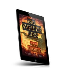 big white lies tablet mockup in jpg format