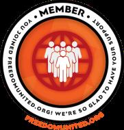 freedom united membership badge